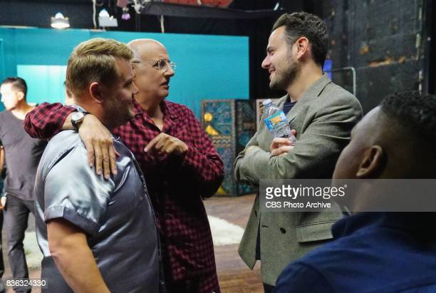 James Corden Jeffrey Tambor and Executive Producer Ben Winston during The Late Late Show with James Corden Tuesday August 8 2017 On The CBS...