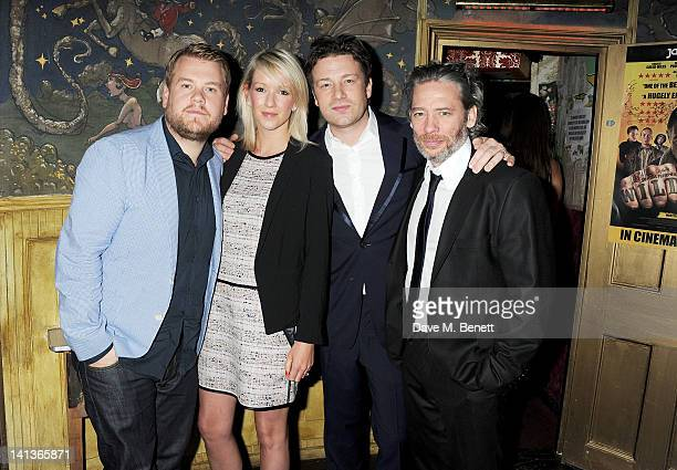 James Corden, Julia Carey, Jamie Oliver and Dexter Fletcher attend a private screening of Dexter Fletcher's directorial debut 'Wild Bill' hosted by...