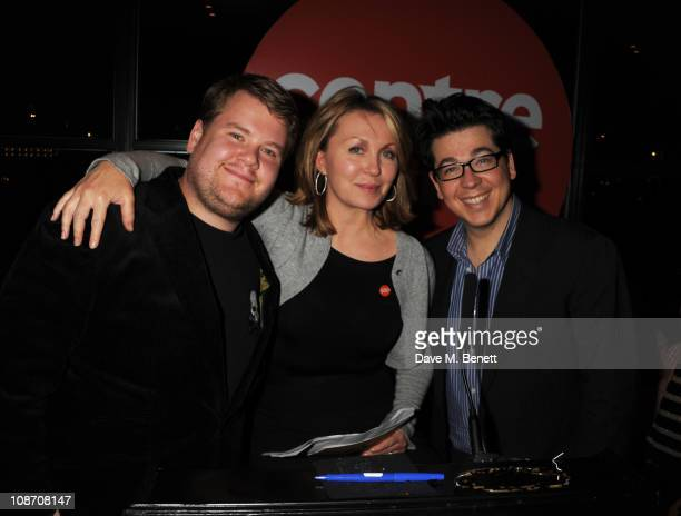 James Corden, Kirsty Young and Michael McIntyre attend the Centrepoint Ultimate Pub Quiz hosted by Kirsty Young at Shoreditch House on February 1,...
