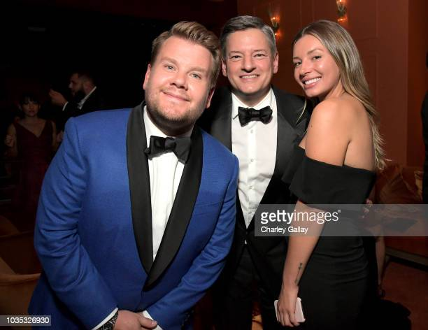 James Corden Netflix Chief Content Officer Ted Sarandos and guest attend the 2018 Netflix Primetime Emmys After Party at NeueHouse Hollywood on...