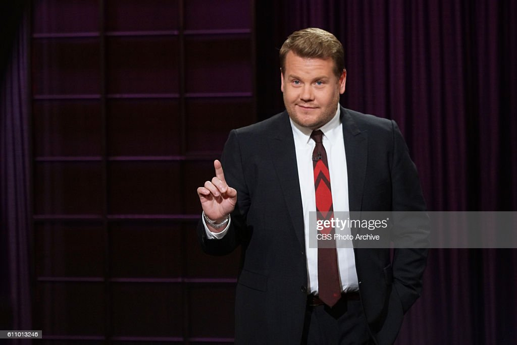 James Corden on 'The Late Late Show with James Corden,' Thursday, Sept. 1 (12:35 PM-1:37 AM ET/PT) On the CBS Television Network.