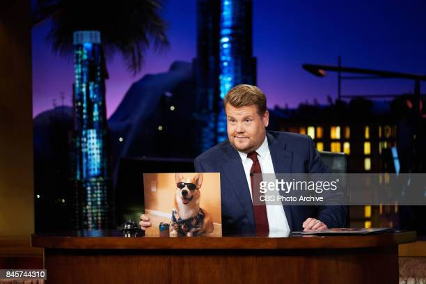James Corden performs Dogs In Sunglasses during 'The Late Late Show with James Corden' Thursday September 7 2017 On The CBS Television Network