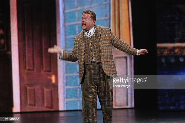 """James Corden performs from """"One Man Two Two Guvnors"""" onstage at the 66th Annual Tony Awards at The Beacon Theatre on June 10, 2012 in New York City."""