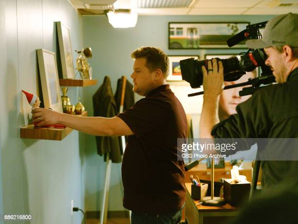 James Corden performs in a sketch called Elf On A Shelf during 'The Late Late Show with James Corden' Monday December 4 2017 On The CBS Television...