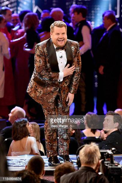 James Corden speaks onstage during the 2019 Tony Awards at Radio City Music Hall on June 9 2019 in New York City