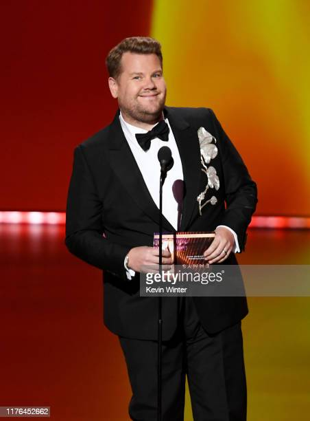 James Corden speaks onstage during the 71st Emmy Awards at Microsoft Theater on September 22, 2019 in Los Angeles, California.
