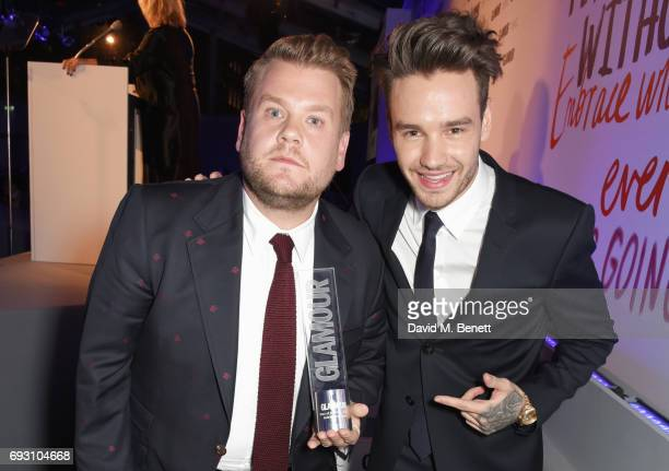 James Corden winner of the Man of the Year award and Liam Payne attend the Glamour Women of The Year Awards 2017 in Berkeley Square Gardens on June 6...