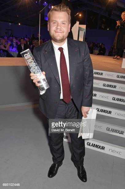 James Corden winner of the Man of the Year award attends the Glamour Women of The Year Awards 2017 in Berkeley Square Gardens on June 6 2017 in...
