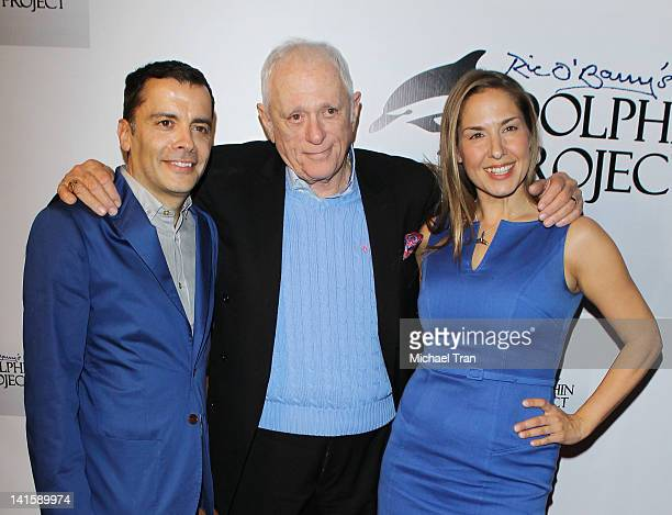 James Costa Ric O'Barry and Deborah Bassett attend the cocktail reception honoring Richard O'Barry star of the OscarWinning Documentary The Cove held...