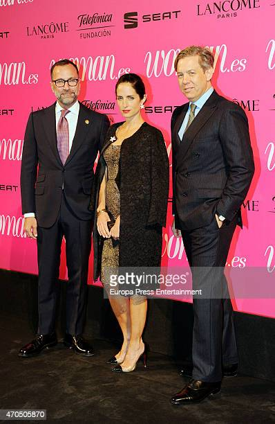 James Costos, Adriana Carolina Herrera and Michael Smith attend 'Woman Awards' at Casino de Madrid on April 20, 2015 in Madrid, Spain.