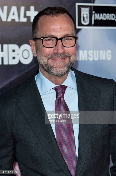 James Costos attends the 'Games of Thrones' exhibition photocall at 'El Matadero' on April 28, 2015 in Madrid, Spain.