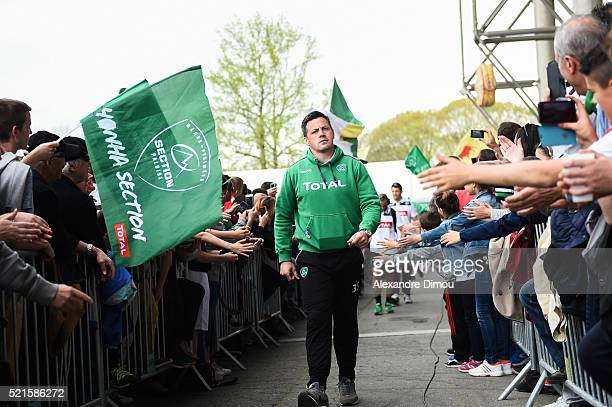 James Coughlan of Pau during the French Top 14 rugby union match between Pau v Toulon at Stade du Hameau on April 16 2016 in Pau France