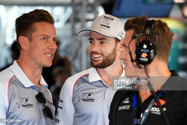 James Courtney driver of the Mobil 1 Boost Mobile Racing Holden Commodore ZB Scott Pye driver of the Mobil 1 Boost Mobile Racing Holden Commodore ZB...
