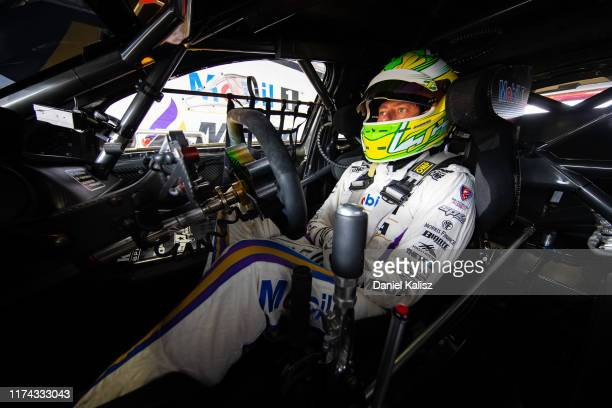 James Courtney driver of the Mobil 1 MEGA Racing Holden Commodore ZB looks on during practice 1 for the Auckland SuperSprint Supercars Championship...