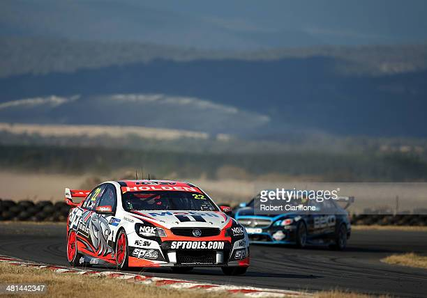 James Courtney drives the Holden Racing Team Holden during race 6 for the Tasmania 400 which is round two of the V8 Super Championship Series at...