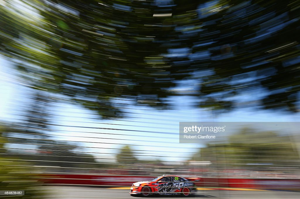James Courtney drives the #22 Holden Racing Team Holden during race three for the V8 Supercars Clipsal 500 at Adelaide Street Circuit on March 1, 2015 in Adelaide, Australia.