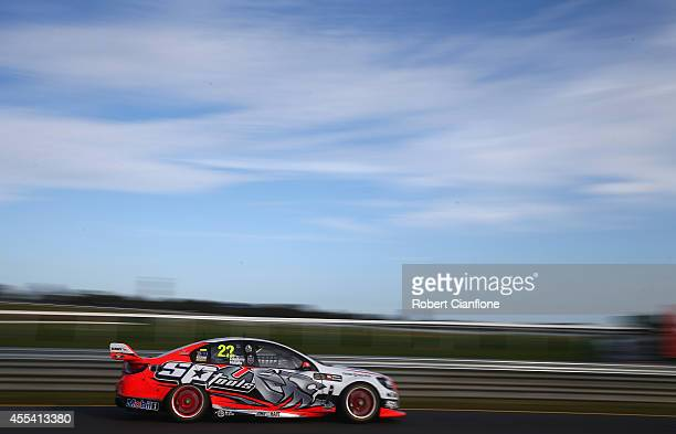 James Courtney drives the Holden Racing Team Holden during the Sandown 500 which is race 29 of the V8 Supercar Championship Series at Sandown...