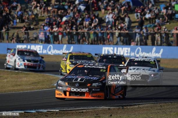 James Courtney drives the Mobil 1 HSV Racing Holden Commodore VF during race 16 for the Ipswich SuperSprint which is part of the Supercars...
