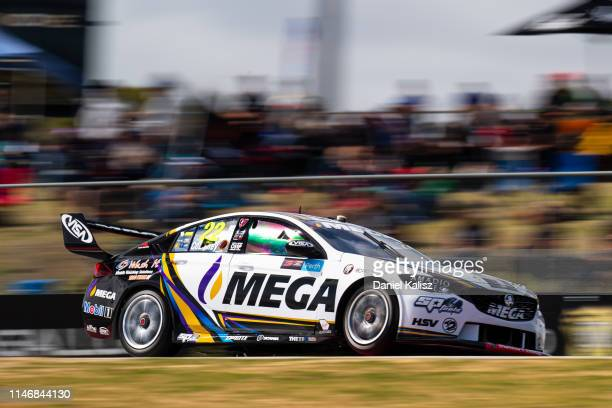 James Courtney drives the Mobil 1 MEGA Racing Holden Commodore ZB Perth Supernight as part of the 2019 Supercars Championship at Barbagallo Raceway...