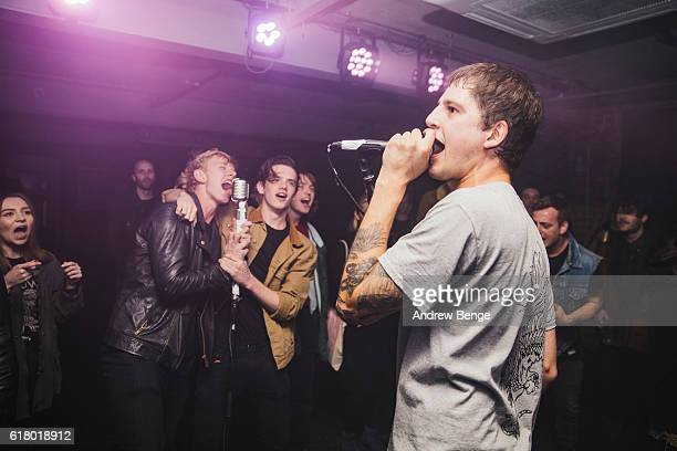 James Cox of Crows performs at Headrow House on October 25 2016 in Leeds England