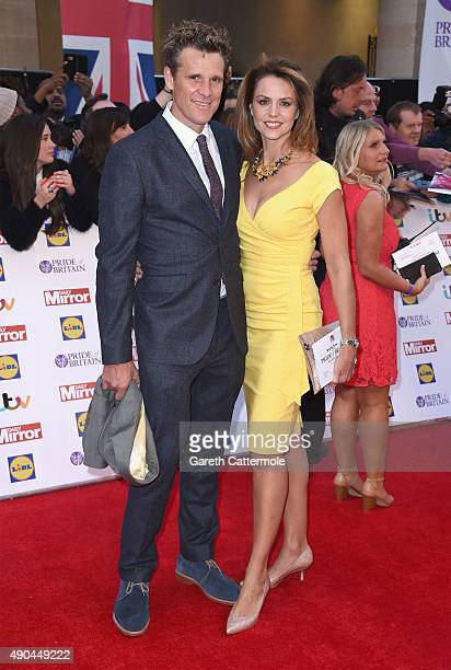 James Cracknell and Beverley Turner attend the Pride of Britain awards at The Grosvenor House Hotel on September 28 2015 in London England