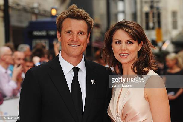 James Cracknell and Beverly Turner arrive for the Philips British Academy Television Awards at the London Palladium on June 6, 2010 in London,...