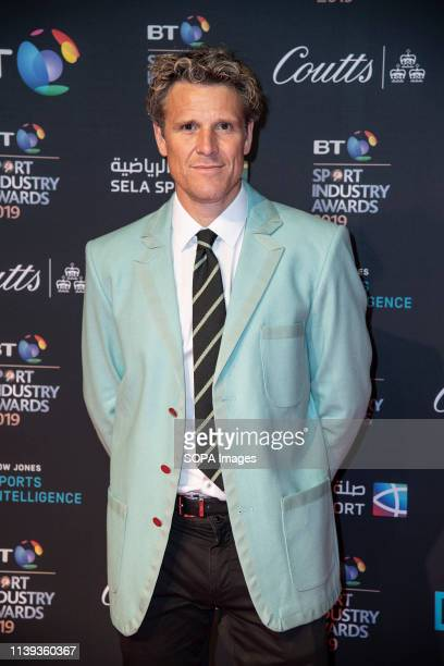 James Cracknell appears on the red carpet ahead of the BT Sport Industry Awards 2019 at Battersea Evolution