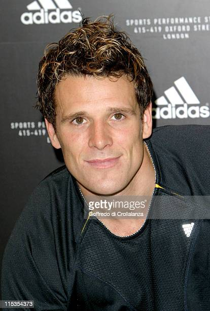 James Cracknell during Launch of First Adidas Sports Performance Store in London at Adidas Store in London Great Britain