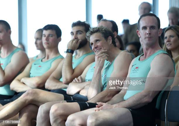 James Cracknell of Cambridge University Boat Club looks on during The Boat Race Crew Announcement 2019 on March 14 2019 in London England