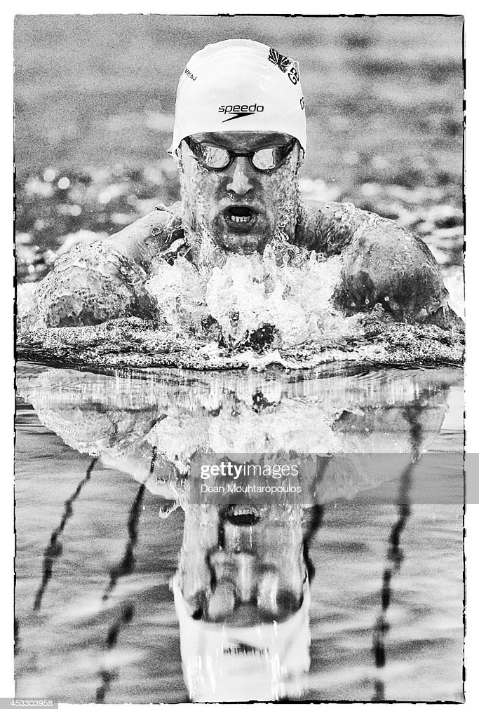James Crisp of Great Britain competes in the Men's 100m Breaststroke SB8 Final during day four of the IPC Swimming European Championships held at the Pieter van den Hoogenband Swimming Stadium on August 7, 2014 in Eindhoven, Netherlands.