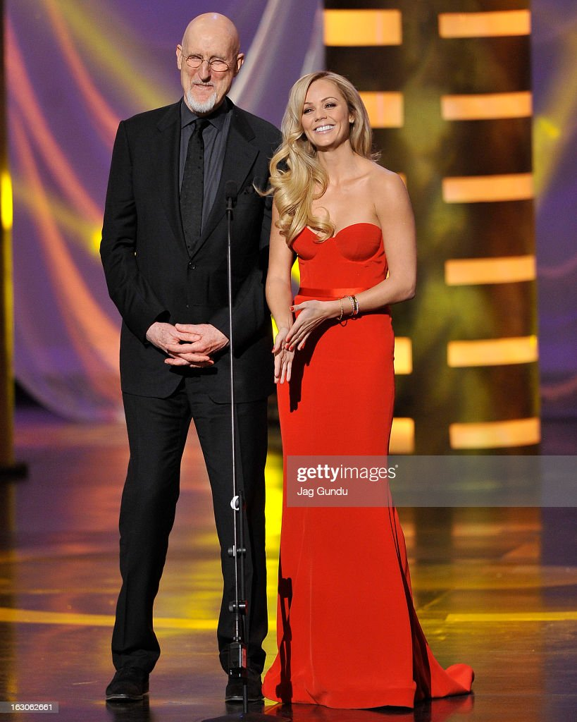 James Cromewell and Laura Vandervoort present at the 2013 Canadian Screen Awards at the Sony Centre for the Performing Arts on March 3, 2013 in Toronto, Canada.