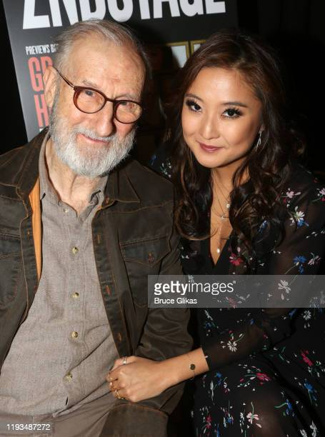 James Cromwel and Ashley Park attend a meet and greet for Second Stage Theater's upcoming production of Grand Horizons on Broadway at The Liberty...