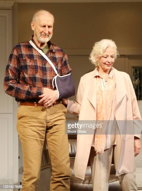 James Cromwell and Jane Alexander during the opening night curtain call for the new play Grand Horizons on Broadway at The Second Stage Hayes Theater...