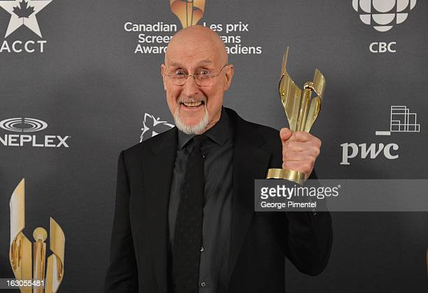 James Cromwell winner of the best actor in a leading role poses in the press room at the 2013 Canadian Screen Awards at Sony Centre for the...