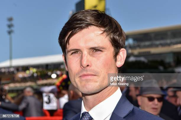 James Cummings after Banish won the italktravel Fillies Classic at Moonee Valley Racecourse on October 28 2017 in Moonee Ponds Australia