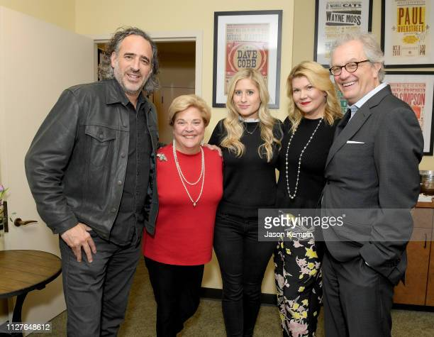 James Curleigh of Gibson Honoree Bebe Evans Heather Freeland of Gibson honoree Marcie Allen and CMHOF's Kyle Young attend the Twelfth Annual Louise...