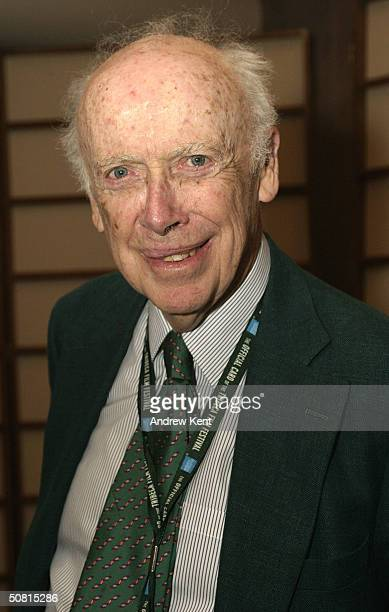 James D Watson poses at the Unraveling The Code Rosalind Franklin and DNA panel during the 2004 Tribeca Film Festival May 8 2004 in New York City