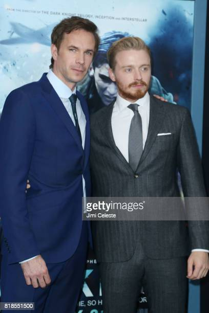 """James D'Arcy and James Lowden attend the US premiere of """"Dunkirk"""" at AMC Loews Lincoln Square IMAX on July 18, 2017 in New York City."""