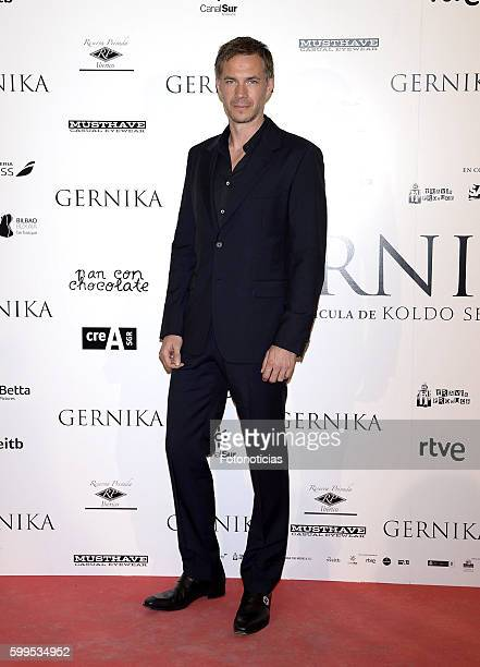 James D'Arcy attends the 'Gernika' premiere at Palafox cinema on September 5 2016 in Madrid Spain