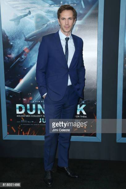 """James D'Arcy attends the US premiere of """"Dunkirk"""" at AMC Loews Lincoln Square IMAX on July 18, 2017 in New York City."""