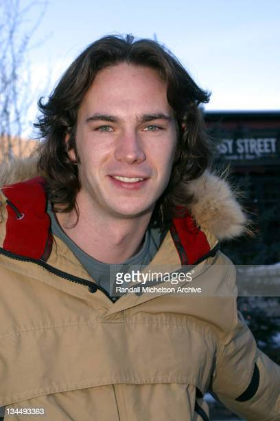 James D'Arcy during 2003 Sundance Film Festival 'Dot the I' Outdoor Portraits at Main Street in Park City Utah United States