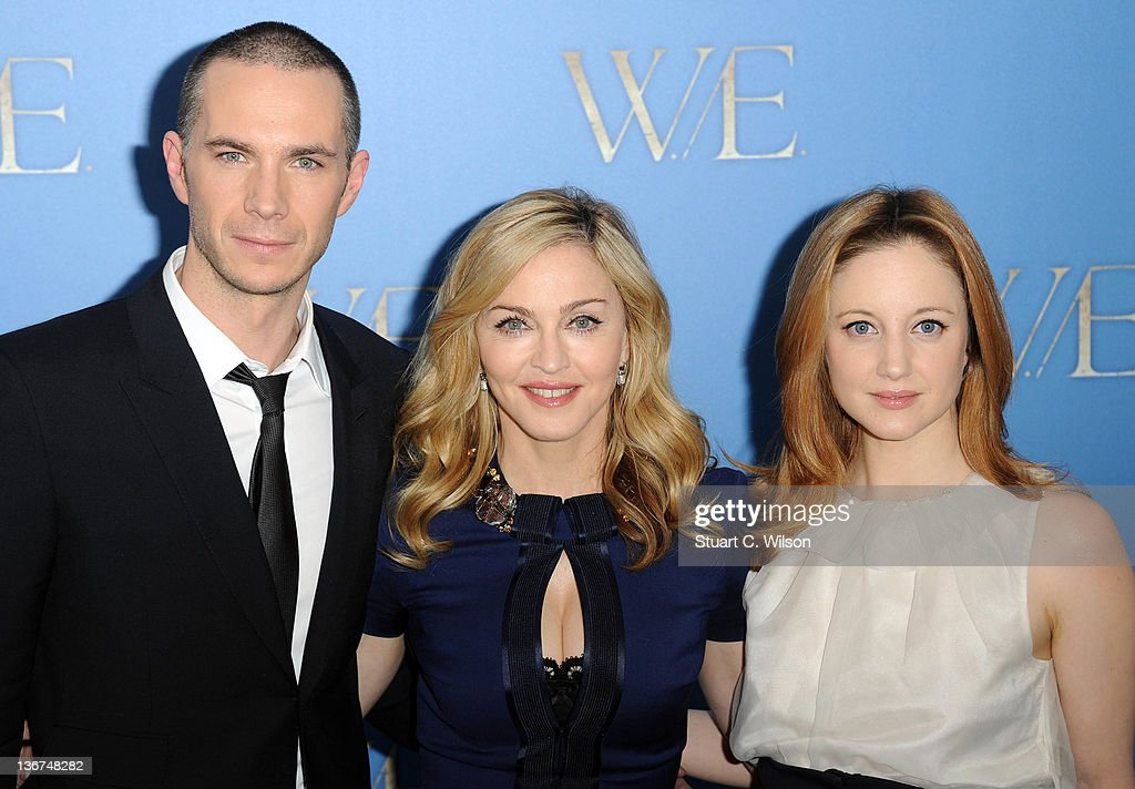 James D'Arcy, Madonna and Andrea Riseborough attend a photocall for W.E at The London Studios on January 11, 2012 in London, England.