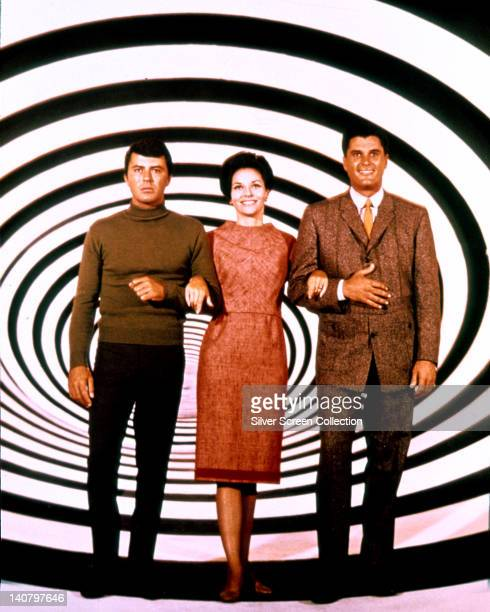 James Darren US actor Lee Meriwether US actress and Robert Colbert posing for a publicity portrait issued for the US television series 'The Time...