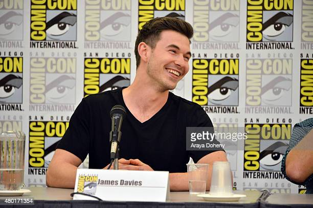 James Davies from Saban's Power Ranger Dino Charge participates in the official San Diego ComicCon Power Rangers panel at the San Diego Convention...