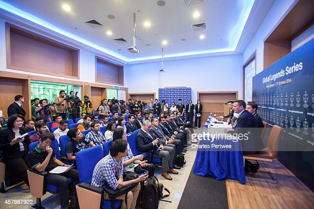 James DaviesYandle cofounder of the Global Legends Series speaks to the media at a Global Legends Series media event on October 27 2014 in Kuala...
