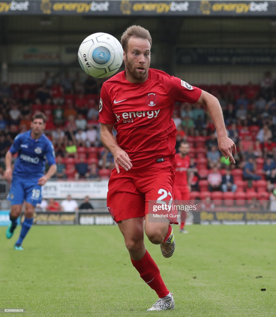 James Dayton of Leyton Orient during the National League match between Leyton Orient and Eastleigh at The Matchroom Stadium on August 26, 2017 in London, United Kingdom.