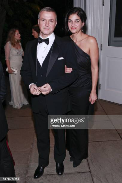 James de Givenchy and Gina de Givenchy attend THE WINTER WONDERLAND BALL at The New York Botanical Garden on December 10 2010 in New York City