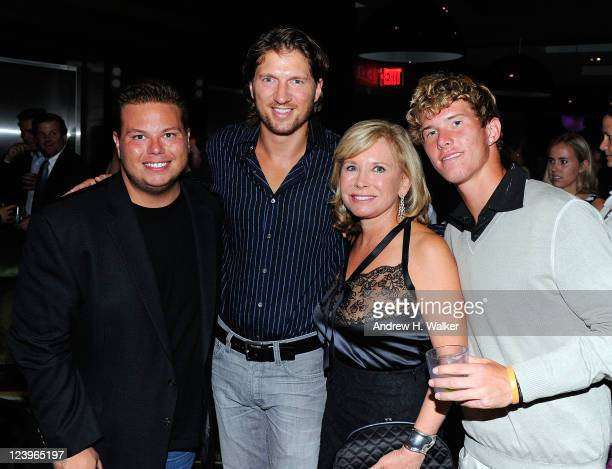 James De Thomas Charles Ferri Sharon Bush and tennis player RJ Del Nunzio attends the Tennis Hall of Fame 2011 US Open party at the Gansevoort Park...