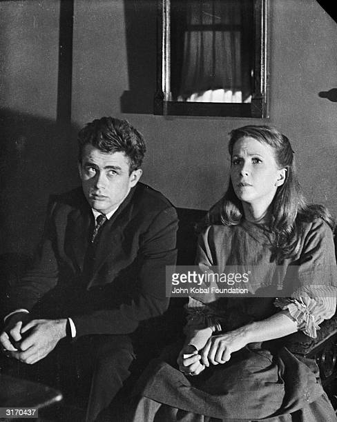 James Dean and Julie Harris play Cal Trask and Abra in 'East of Eden' directed by Elia Kazan and based on the novel by John Steinbeck