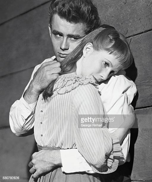 James Dean as the brother who takes his brother's sweetheart in film version of John Steinbeck's powerful story East of Eden directed by Elia Kazan...
